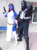 Agent Venom and Mystique by pa68
