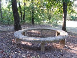 Stone Circle Bench - Stock by Desperation-Stock