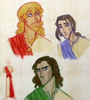 Designs for Michael, Raphael and Gabriel by kbakonyi
