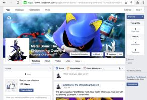 Like my Metal Sonic Facebook Shitposting page! by sonamy-666