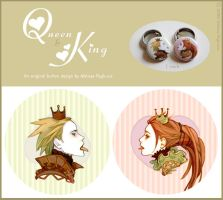 Queen + King - Button design by DarkSunRose