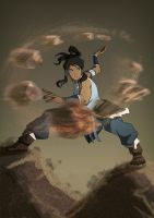 Korra Earthbending by jadenwithwings