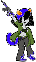 Nepeta The Gunner Girl by animatedjapanbee