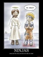 ninja vs jesus by thetimeofdying13