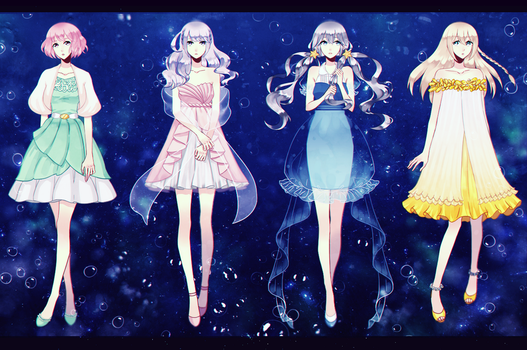 VocaFX: Minty Little Sky Girls - Coelacanth by mintymo