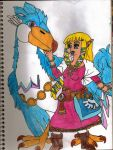 Zelda With Her Loftwing by ForestKitty22