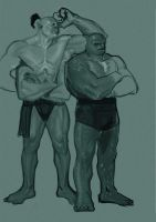Studies for Muscle Competion by FUNKYMONKEY1945