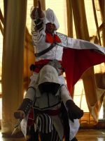 Ezio and his new Mount?? xD by sacrossanct