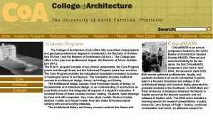 College of Architecture by Medallion2012
