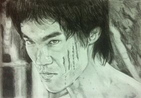 Bruce Lee by peterportobanco