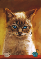 Painting Digital Cat by LucasValencio