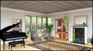 Interior Rendering -- Music Room by jbjdesigns