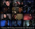 Happy Birthday Commander Shepard! by theant4