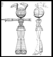 3D jenny Wireframe by 14-bis