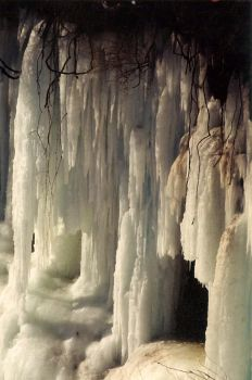 Iced Waterfall by YourArtMuse