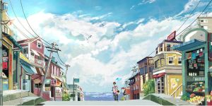 Seaside town by leahliu