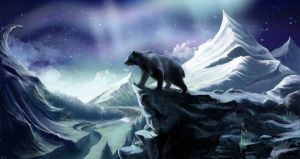 Bear in the mountains by Kitao-chan