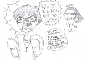 Spoiler: Eren is Mad and his Dad is Madder by Batsu13angel