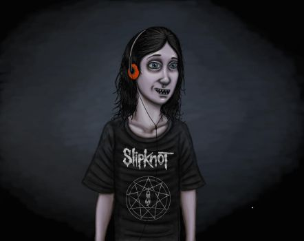 Eli In a size large Slipknot T-shirt by Michaelpinocchio