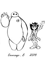 Big Hero 6  Hiro and Baymax by CartoonWatch