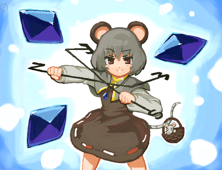 Touhou Nazrin by super-mican