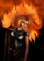 Fire woman by sillver-lady