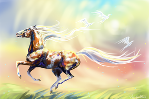 The spirit of the sun by whitecrow-soul