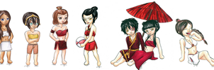 AtLA: Swimsuit Edition by Xiaomei23