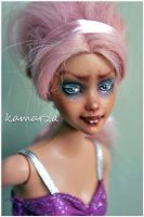 Scary Pink OOAK Doll Repaint 1 by kamarza