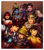 Overwatch zine painting by leonwoon