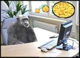 Chimp At Works by Kaal979