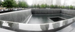 Panorama 9/11 Memorial South Pool by TheWizardofOzzy