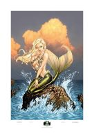 Mermaid Giclee Print by cehnot