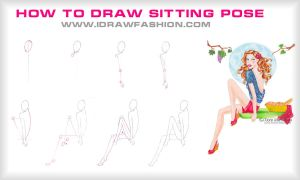How to draw....sitting pose! by idrawfashion