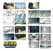 MinoMonsters Trailer - Color Boards by hellcorpceo