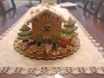 Santa Claus biscuit house by rosecake