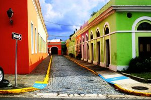 Street in San Juan Viejo by wildbuddha