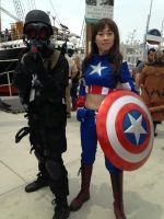 Hunk and Fem Captain America by W4RH0US3