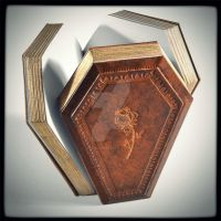 The rose on a coffin, 8 x 5.5 inches... by alexlibris999