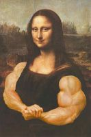 Mona Lisa the Bodybuilder by califjenni3