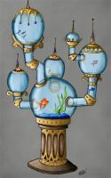 Steampunk Fish Tank by NikkiWardArt