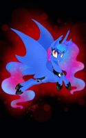 Red moon (bat princess luna) by samnightmare