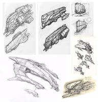 spaceship doodle compilation by marcnail