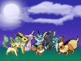 Eeveelutions v1 by flute-soloist