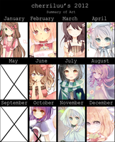 2012 Art Summary by cherriluu