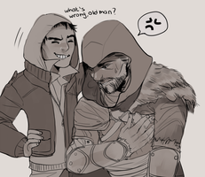 poor ezio by Myku