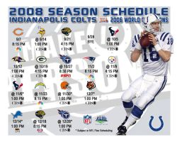 2008 Colts Schedule by tlaurenzana