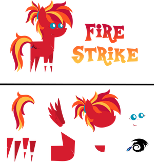 Pointy Pony: Fire Strike by MyPaintedMelody