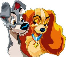 Lady and her Tramp by HippocornDesigns