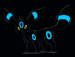 Shiny umbreon by skywolf1998
